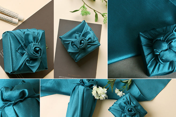 It doesn't matter the size or shape of the offering, you can use fabric wrapping paper to make it look fashionable.