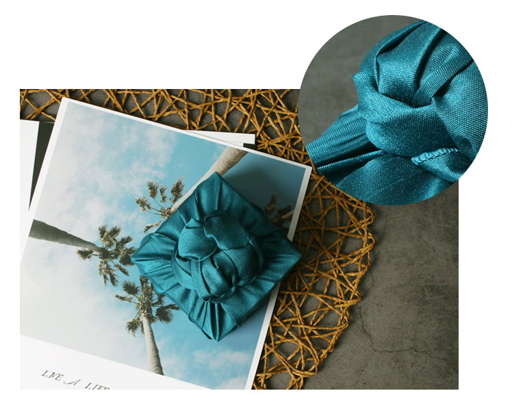 This cobalt-blue fabric wrapping is so stunning it's considered Bojagi Art.