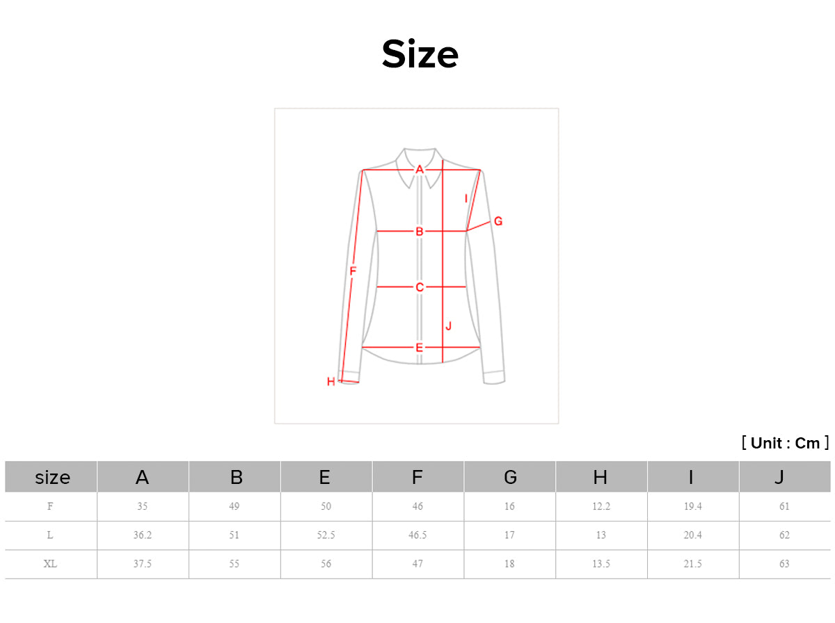 Joteta offers you a sizing chart so that you can quickly determine which size you are.