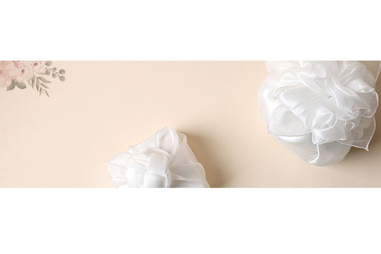Nothing says love like a creamy white Bojagi fabric over top of a gift for that special someone.
