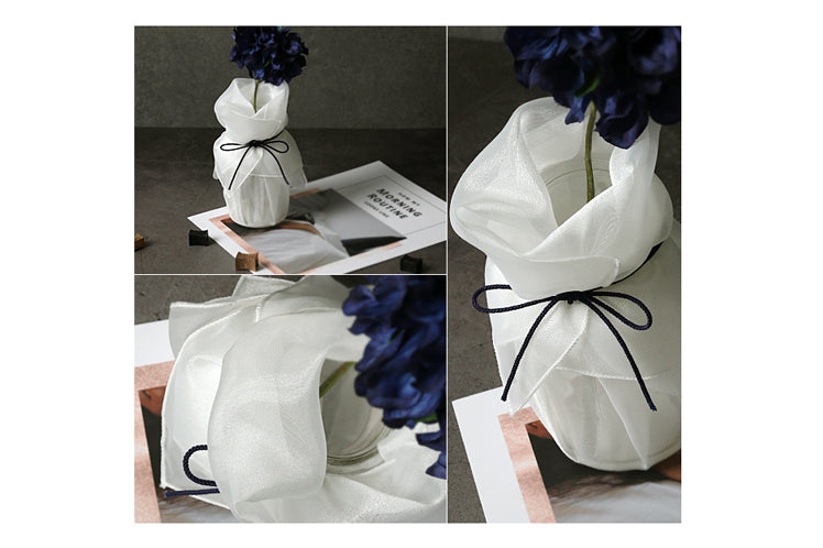 There's nothing more classy and elegant than this pure white lucid Korean gift wrapping cloth. Make any girl or guy speechless with this exquisite wrapping paper.
