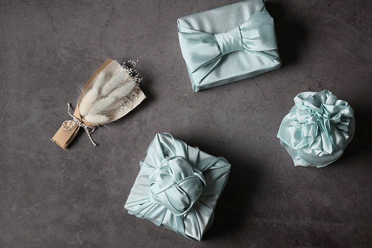 Teal single sided Bojagi fabric is stunning and tasteful for any Korean holiday.