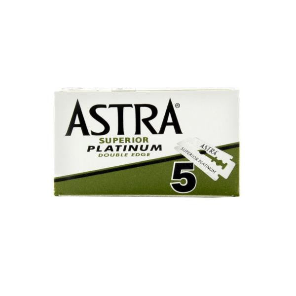 100 Astra Superior Platinum DE Blade, 20 packs of 5 (100 blades) - (For Kits - CSKB)-Astra Blades-ItalianBarber