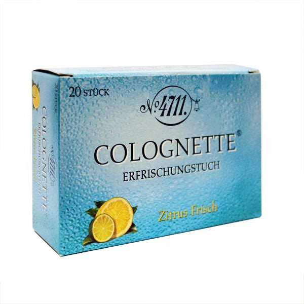 4711 Lemon Colognette Tissues - 20 Pack - Tabac - ItalianBarber.com