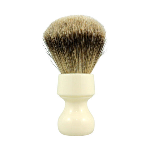 RazoRock Chubby Extra Silvertip Badger Shaving Brush - Ivory Handle 506 - (For Kits - CSKB) - RazoRock - ItalianBarber.com - 1