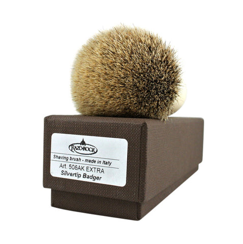 RazoRock Chubby Extra Silvertip Badger Shaving Brush - Ivory Handle 506 - (For Kits - CSKB) - RazoRock - ItalianBarber.com - 2