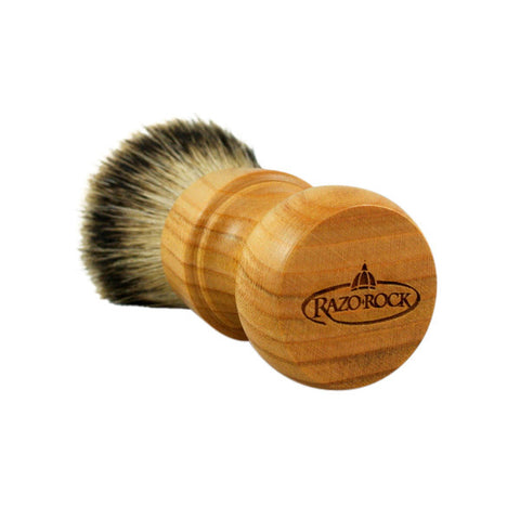 RazoRock Chubby Extra Silvertip Badger Shaving Brush - Cherry Wood 506 Handle (506CKnic) - RazoRock - ItalianBarber.com - 2