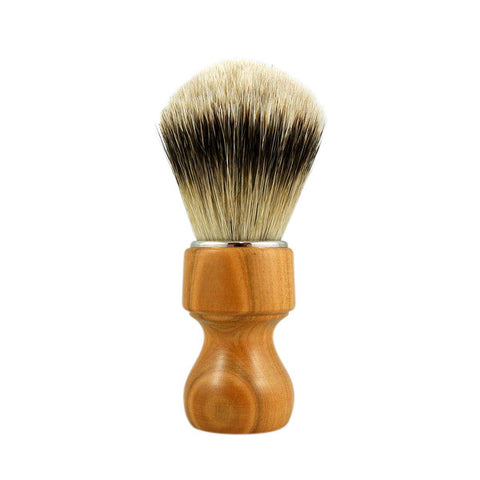 RazoRock Chubby Extra Silvertip Badger Shaving Brush - Cherry Wood 506 Handle (506CKnic) - RazoRock - ItalianBarber.com - 1