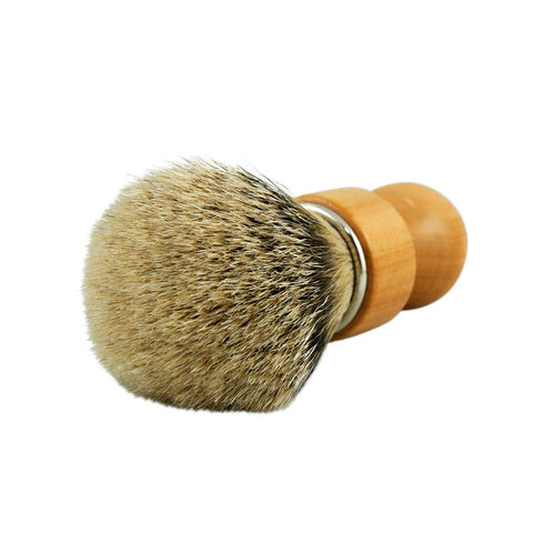 RazoRock Chubby Extra Silvertip Badger Shaving Brush - Cherry Wood 506 Handle (506CKnic) - RazoRock - ItalianBarber.com - 3