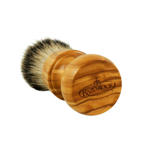 RazoRock Chubby Extra Silvertip Badger Shaving Brush - Olive Wood 506 Handle (506UKnic)-RazoRock-ItalianBarber