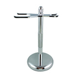 RazoRock Chrome Razor and Brush Stand - #2 - (For Kits - CSKB)-RazoRock-ItalianBarber
