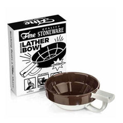 Fine Stoneware Lather Bowl - Brown/White-Fine Accoutrements-ItalianBarber