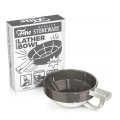 Fine Stoneware Lather Bowl - Grey/White-Fine Accoutrements-ItalianBarber