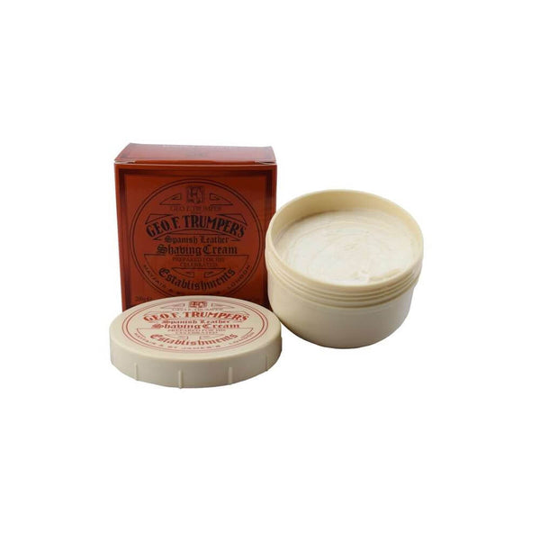 Geo F Trumper Spanish Leather Soft Shaving Cream Screw Thread Pot 200g-Geo F Trumper-ItalianBarber