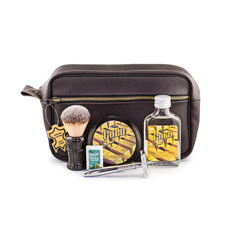 RazoRock 5-Piece Wet Shaving Set with Leather Dopp Bag, Save $40-RazoRock-ItalianBarber