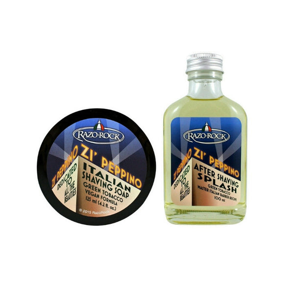 (Combo Pack) RazoRock Zi' Peppino Shaving Soap & After Shaving Splash-RazoRock-ItalianBarber