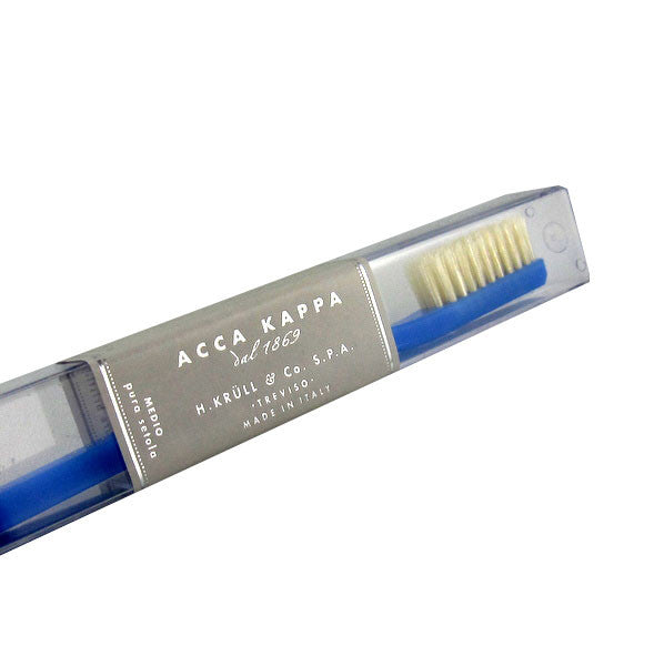 Acca Kappa Pure Bristle Toothbrush Medium Light Blue - No. 568-Acca Kappa-ItalianBarber