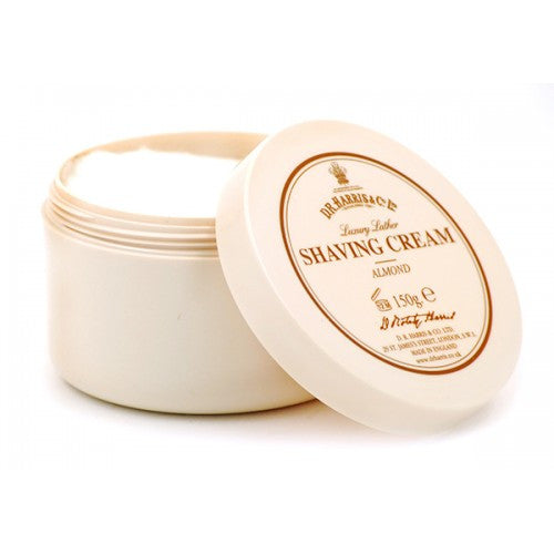 D.R. Harris Almond Luxury Lather Shaving Cream Bowl - D.R. Harris - ItalianBarber.com