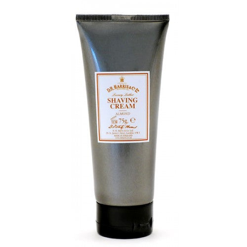D.R. Harris Almond Luxury Lather Shaving Cream Travel Tube - D.R. Harris - ItalianBarber.com