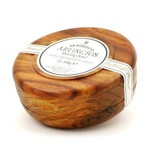 D.R. Harris Arlington Shaving Soap in Mahogany Wood Bowl-D.R. Harris-ItalianBarber