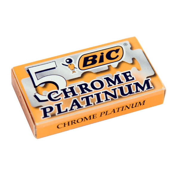 100 Bic Chrome Platinum Double Edge Blades, 20 packs of 5(100)-Bic-ItalianBarber