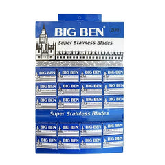 200 Big Ben Super Stainless DE Blade, 20 packs of 10 (200 blades)-Big Ben-ItalianBarber