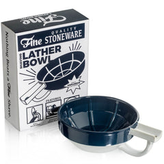 Fine Stoneware Lather Bowl - Blue/White-Fine Accoutrements-ItalianBarber