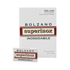 100 Bolzano Superinox DE Blades, 20 packs of 5(100 blades)-Bolzano-ItalianBarber