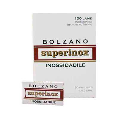 20 Bolzano Superinox DE Blades, 4 packs of 5(20 blades) - (For Kits - CSKB) - Bolzano - ItalianBarber.com