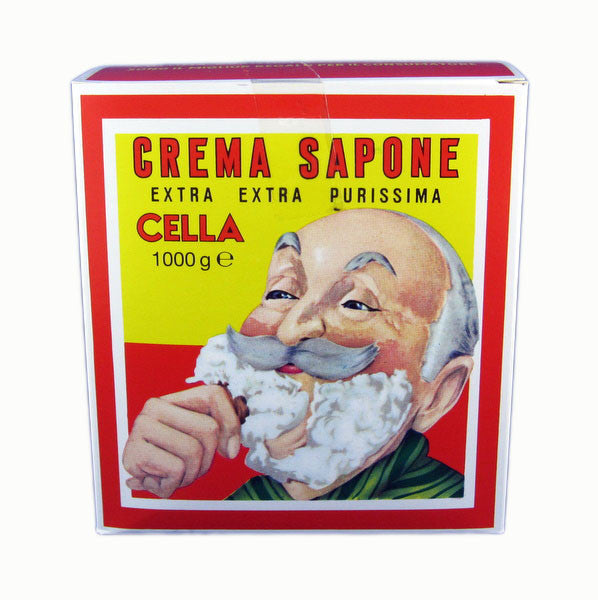 Cella 1kg Shave Cream Block-Cella-ItalianBarber