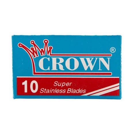 200 Crown Super Stainless DE Blade, 20 packs of 10 (200 blades)-Crown-ItalianBarber
