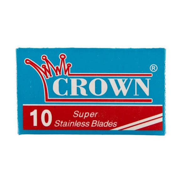 10 Crown Super Stainless DE Blade, 1 pack of 10 (10 blades)-Crown-ItalianBarber