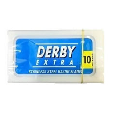 10 Derby (Blue) Extra Super Stainless Double Edge Stainless Steel Razor Blades (1 Pack of 10)-Derby-ItalianBarber