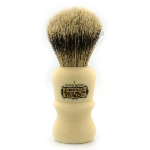 Simpsons Emperor E1 Super 3 Band Badger Shaving Brush - Simpsons - ItalianBarber.com