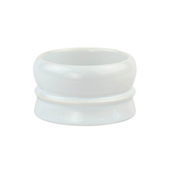 Fine Stackable Stoneware Soap Bowl - White-Fine Accoutrements-ItalianBarber
