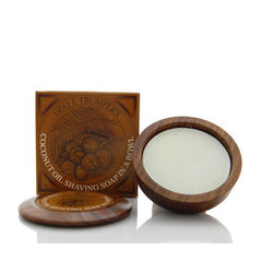 Geo F Trumper Coconut Oil Hard Shaving Soap Wooden Bowl 80g - Geo F Trumper - ItalianBarber.com
