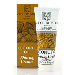 Geo F Trumper Coconut Oil Soft Shaving Cream Travel Tube 75g-Geo F Trumper-ItalianBarber