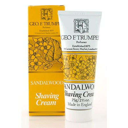 Geo F Trumper Sandalwood Soft Shaving Cream Travel Tube 75g - Geo F Trumper - ItalianBarber.com