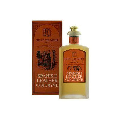 Geo F Trumper Spanish Leather Cologne Glass Crown Bottle 100ml - Geo F Trumper - ItalianBarber.com