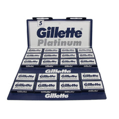 100 Gillette Platinum Double Edge Blades, 20 packs of 5(100 blades)-Gillette-ItalianBarber