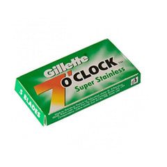 10 Gillette 7 O'Clock Super Stainless Double Edge Blades (Green Pack) - Gillette - ItalianBarber.com