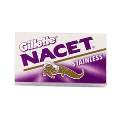 10 Gillette Nacet Stainless Double Edge Razor Blades-Gillette-ItalianBarber