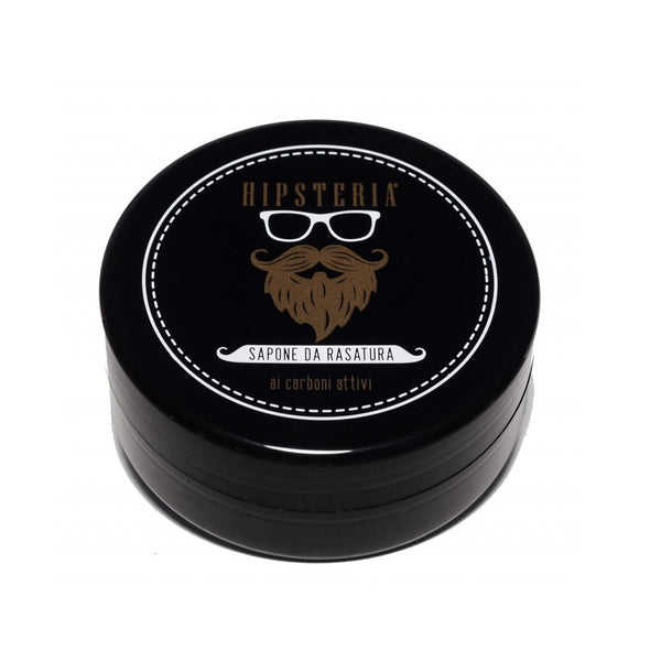Hipsteria Black Shaving Cream Soap-Hipsteria-ItalianBarber