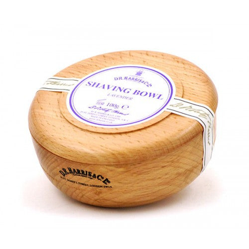 D.R. Harris Lavender Shaving Soap in Beech Wood Bowl-D.R. Harris-ItalianBarber