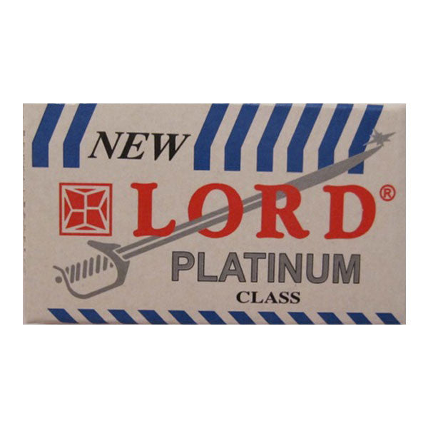 50 Lord Platinum DE Blade, 10 packs of 5 (50 blades) - Lord - ItalianBarber.com
