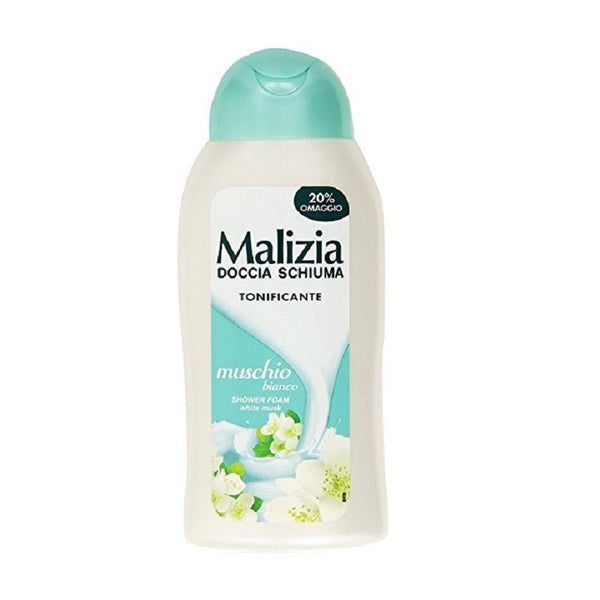 "Malizia Shower Foam ""White Musk"" Doccia Muschio Bianco 300ml-Malizia-ItalianBarber"