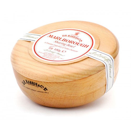 D.R. Harris Marlborough Shaving Soap in Beech Wood Bowl - D.R. Harris - ItalianBarber.com