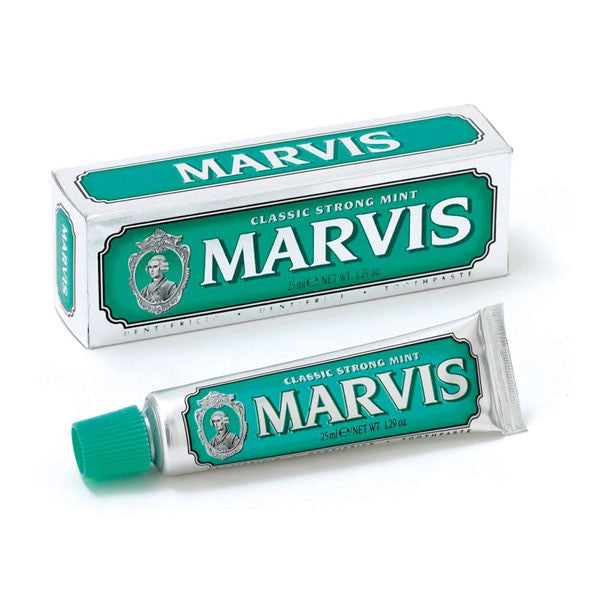Marvis Toothpaste - Classic Strong Mint 25ml Travel Size - Marvis - ItalianBarber.com