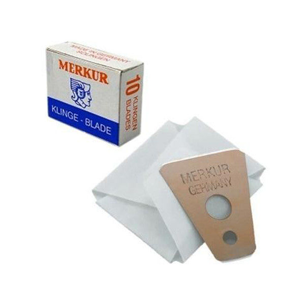 Merkur Moustache and Brow Blades, 1 pack of 10 (10 blades) - Merkur - ItalianBarber.com