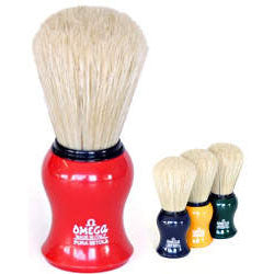 Omega 00065-100% Boar Bristle Shaving Brush-YELLOW-Omega-ItalianBarber